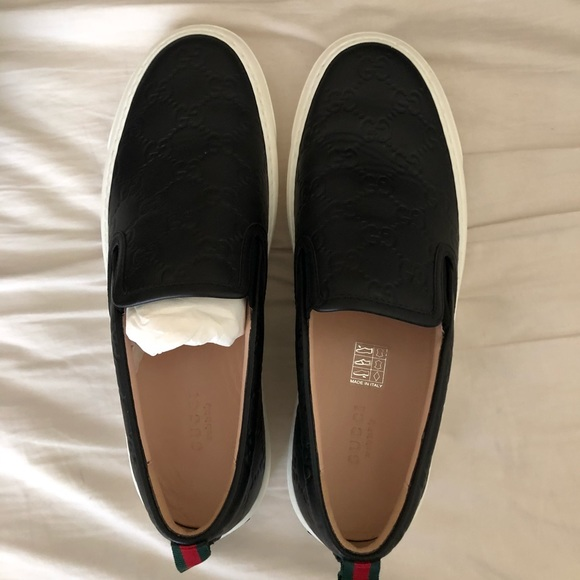 d24313cfbe0 Gucci Shoes - Authentic Gucci Slide Leather Sneakers